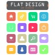 Special flat ui icons for web and mobile applications — Stock Vector