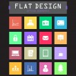 special flat ui icons for web and mobile applications — Stock Vector #30198361