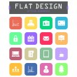 Stock Vector: Special flat ui icons for web and mobile applications