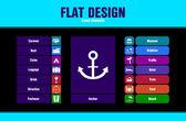 Spezielle flache Ui Icons für Web und mobile Anwendungen — Stockvektor
