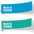 Back to school advertising labels — Stock Vector