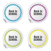 Regresar a billetes de escuela con diseño especial — Vector de stock