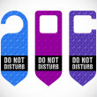 Stock Photo: Hotel do not disturb door hanger with hipster design