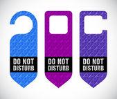 Hotel do not disturb door hanger with hipster design — Stock Photo