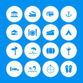Various travel icons with special design — Vecteur