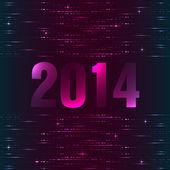 Gelukkig nieuwjaar achtergrond met plasma design — Stockvector