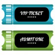 Stock Vector: Two VIP tickets with special design