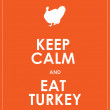 Keep calm and eat turkey background — Stock Vector