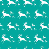 Christmas pattern with special deers — Stock Vector
