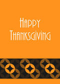Thanksgiving greeting card, special vector design, eps10 — Stock Vector