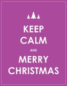 Keep calm modern christmas background — Stock Vector