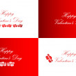 Stock Vector: Valentines Day greeting cards