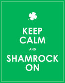 Keep calm and shamrock on - vector background — Stock Vector