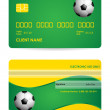 Stock Vector: Bank card with special soccer ball design, vector,EPS10