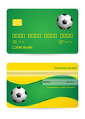 Bank card with a special soccer ball design, vector,EPS10 — Stock Vector