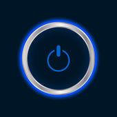 Website power button, vector EPS10 — Stock Vector