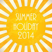 Summer background - 2014, vector illustration, EPS10 — Vetorial Stock