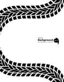 Black and white transportation background, vector illustration,  — Stock Vector