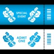 Admit one ticket with special flower design — Stock Vector #48149351
