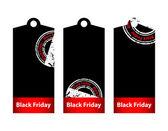 Black Friday prce tag — Stock Vector