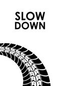 Slow down tire track background — Stock Vector