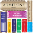Set of ticket admit one vector — Stock Vector #6003978