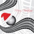 Special Christmas background with tire design — Stock Vector #7447464
