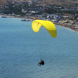 Flight on a paraglide with instructor - Stock Photo