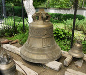 Church bells on the ground — Stock Photo
