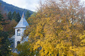 Autumn scenic of old church. — Stock Photo