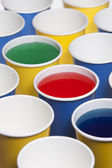 Different angles of paper cups. — Stock Photo
