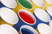 Angled view of paper cups. — Stock Photo