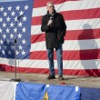 Idaho state Senator speaks at rally. — Stock Photo