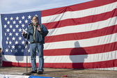 Vito Barbieri at pro gun rally. — Stock Photo