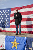 Idaho state Senator speaks at rally. — Stock Photo