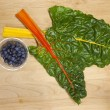 Постер, плакат: Blueberries and chard
