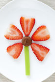 Flower shaped snack. — Stock Photo