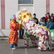 Chinese lion dance. - Stock Photo