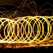 Stock Photo: Spiraling long exposure fire.