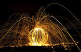Designs of fire and long exposure. — Stock Photo