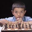 Unsure of next chess move. — Foto Stock