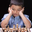 Stock Photo: Concentrating on next move.