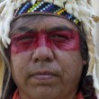 Foto Stock: Close up of Native American.