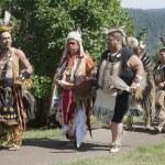 Native Americans at Cataldo mission — Stock Photo