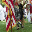 US flag and Native Americans. — Stock Photo #30517353