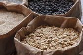 Close up of oats and grains. — Stok fotoğraf