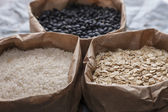Oats, rice, and beans. — Stock Photo