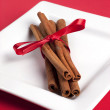 Stock Photo: Bundle of cinnamon sticks.