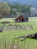 Small barn in pasture. — Stock Photo