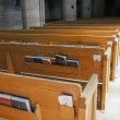 Wooden pews in the church. — Stock Photo #46867469